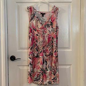 3/$15 Style & Co floral v-neck knee length dress